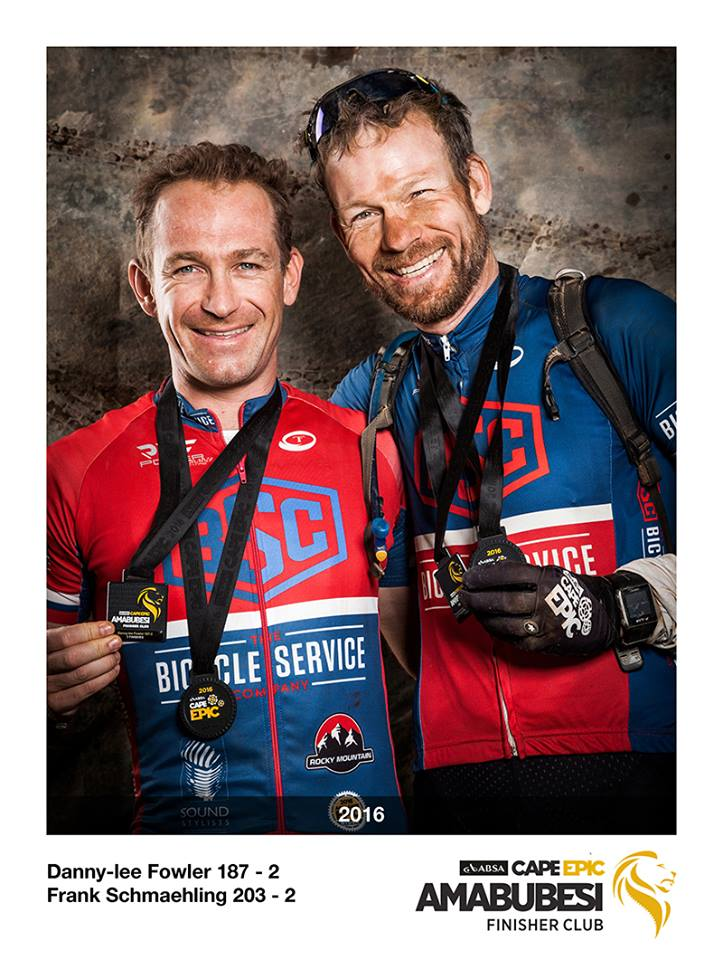 Danny Fowler & Frank Schaehling at the Cape Epic